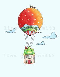 Balloon clipart house. Hot air silhouettes balloons