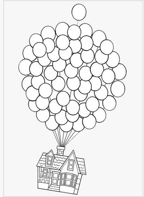 Balloon clipart house. Flying simple good looking