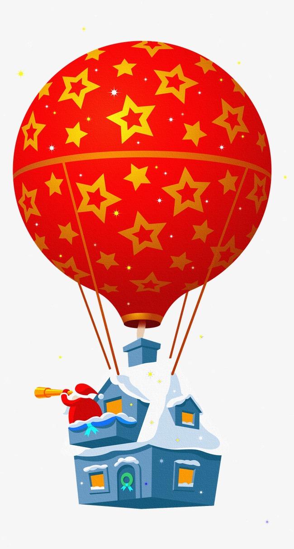 Hot air snow png. Balloon clipart house