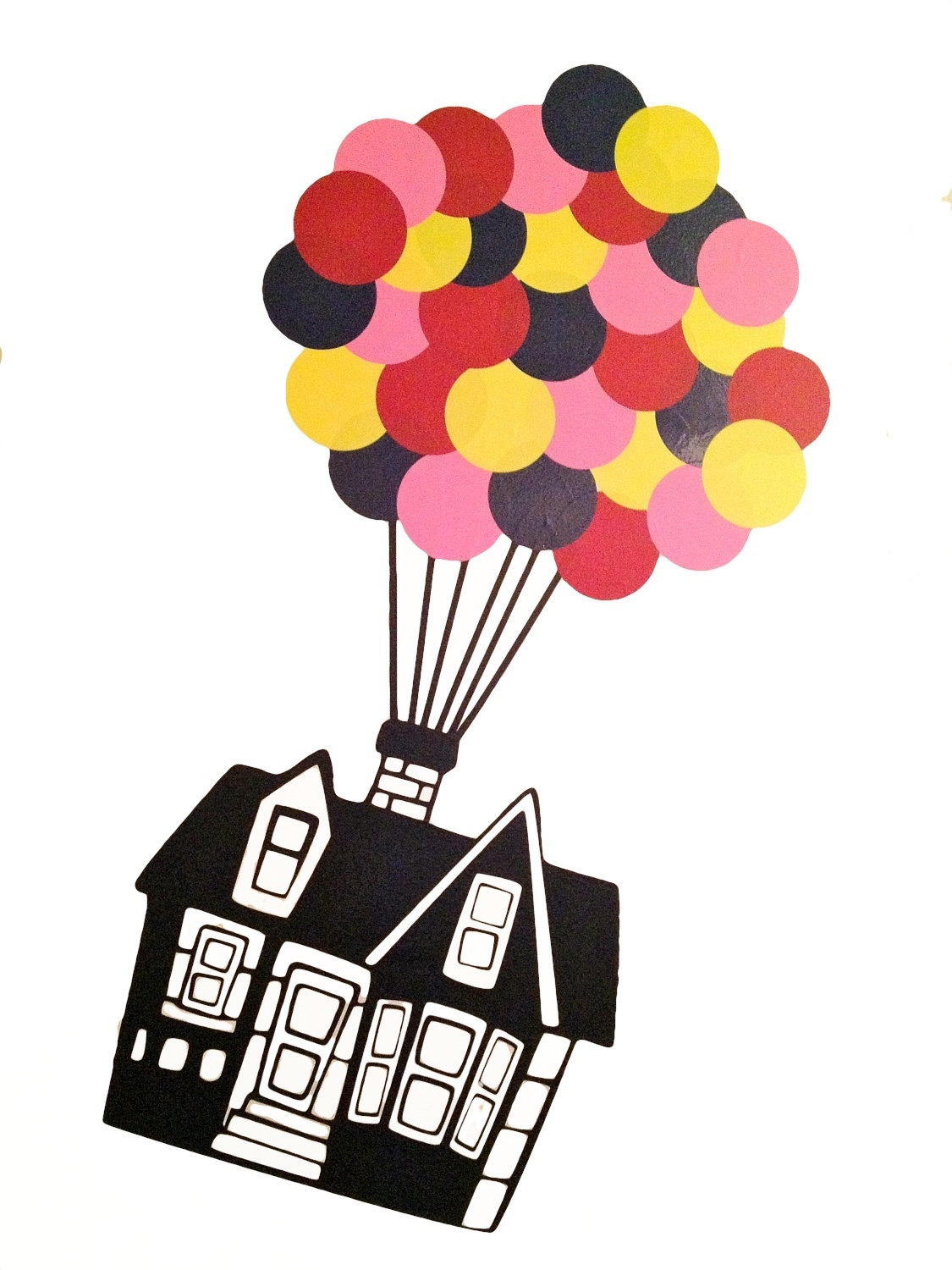 Balloon clipart house.  collection of up
