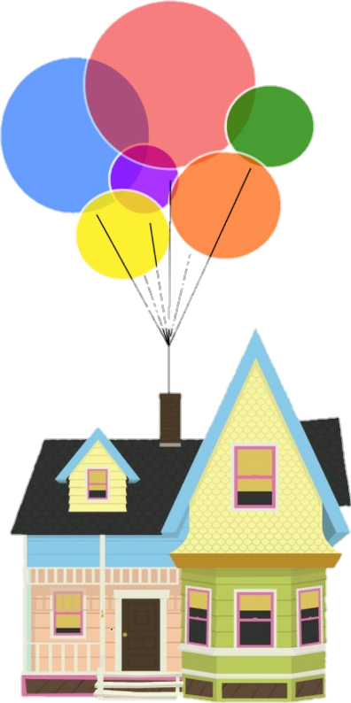 Up with balloons crafts. Balloon clipart house