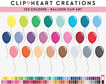 Balloon clipart party balloon. Etsy commercial use png