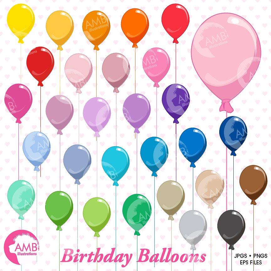 Birthday balloons illustrations creative. Balloon clipart party balloon