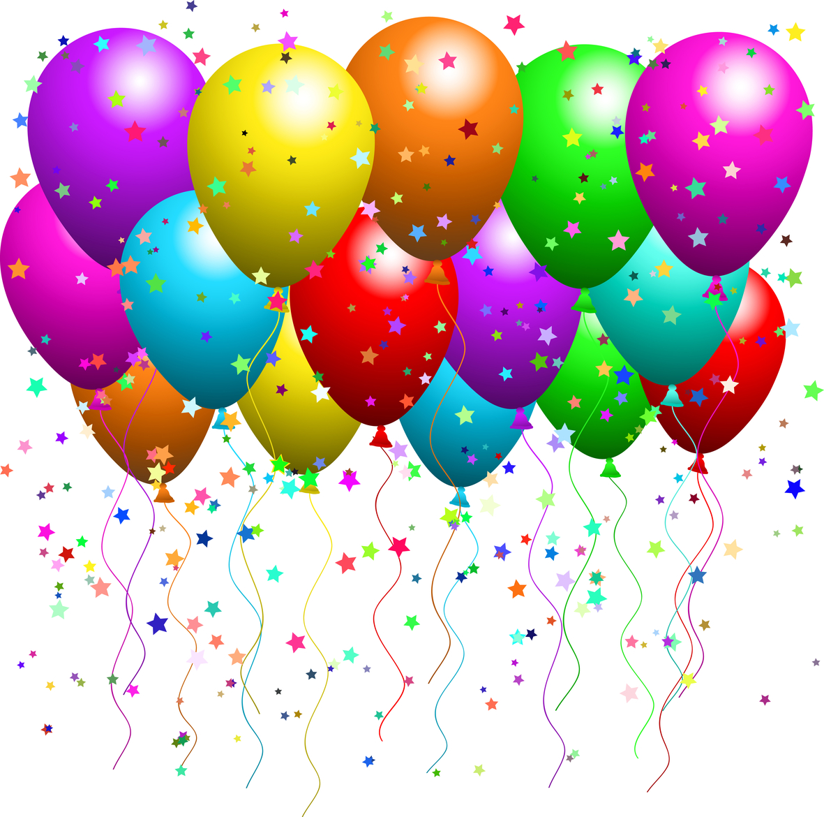 Balloon clipart party balloon. Illustration of a bunch