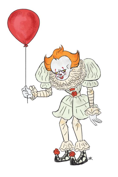Balloon clipart pennywise. Sketch tumblr gettin jiggy