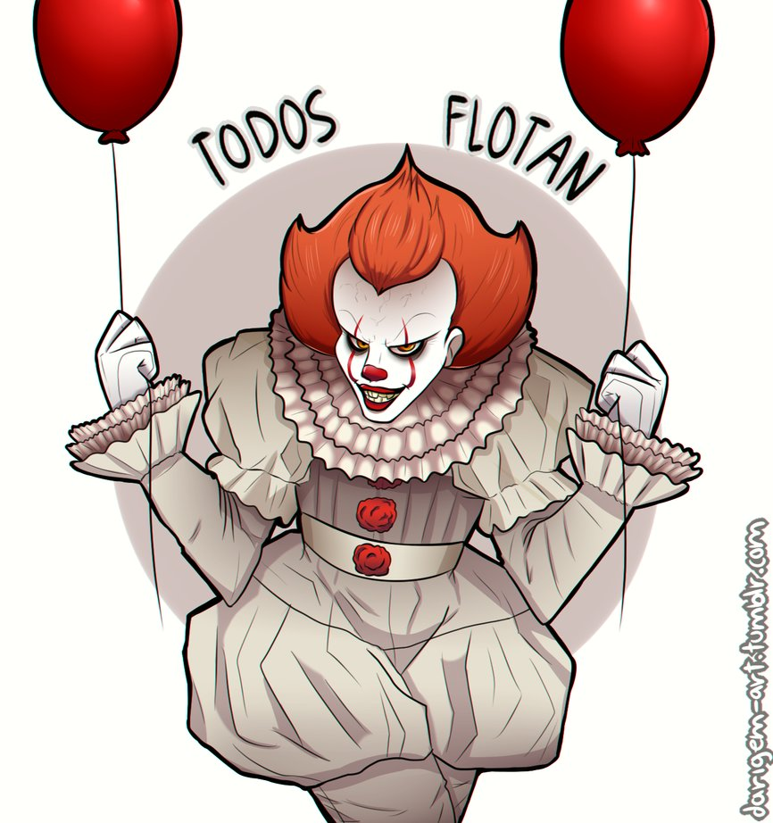 Balloon clipart pennywise. By darigem art on