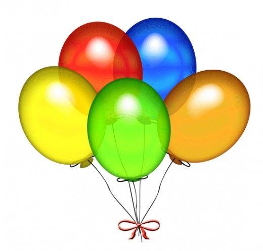 Free happy birthday clip. Clipart balloons printable
