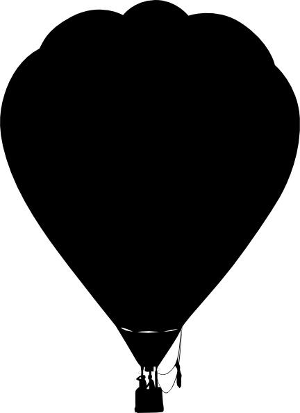 Balloon clipart silhouette. Clue hot air outline