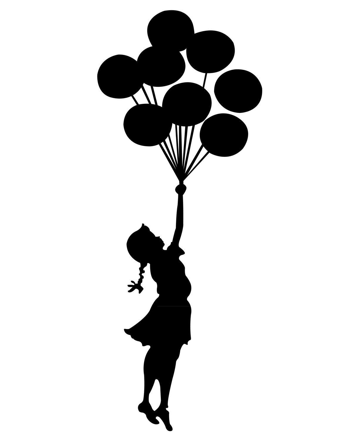 Pin by kaitlin sandberg. Balloon clipart silhouette