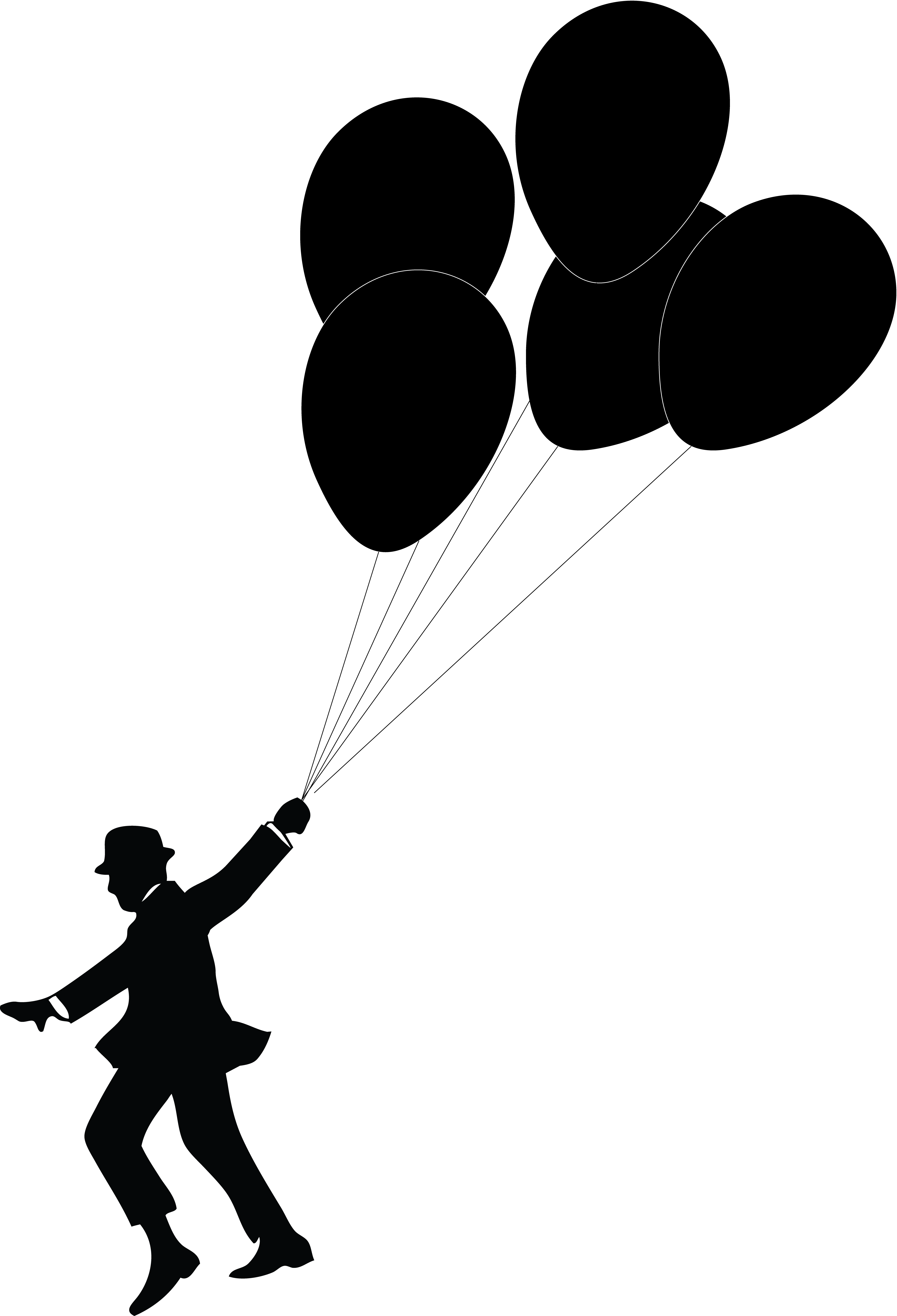 At getdrawings com free. Clipart balloon silhouette