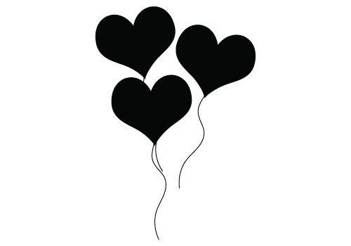 Balloon clipart silhouette. Vector blog free illustration