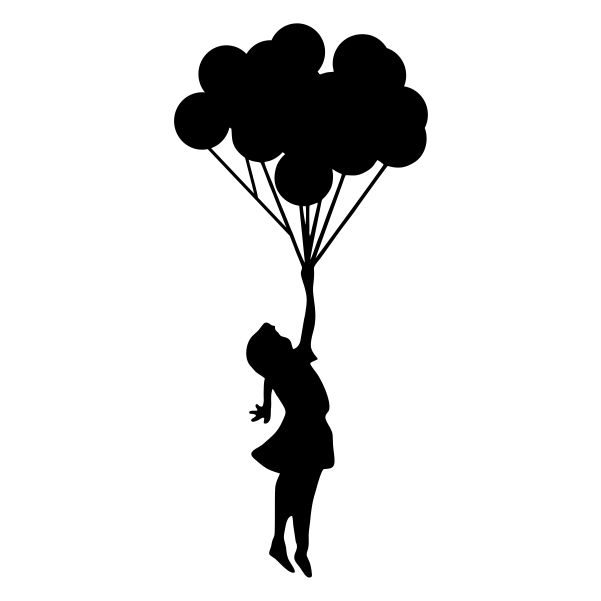 Balloon clipart silhouette. Balloons at getdrawings com