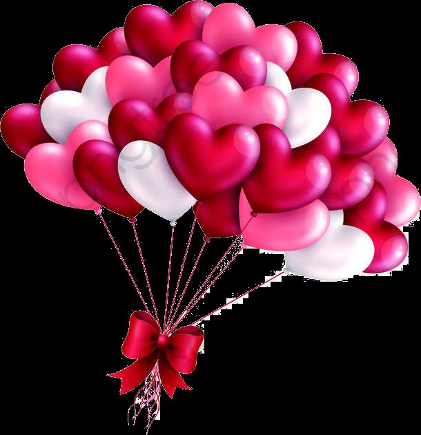 Creative day tanabata heart. Balloon clipart valentines