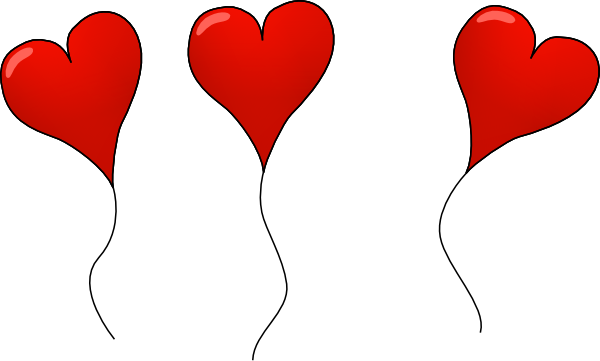 Valentine balloons day s. Balloon clipart valentines