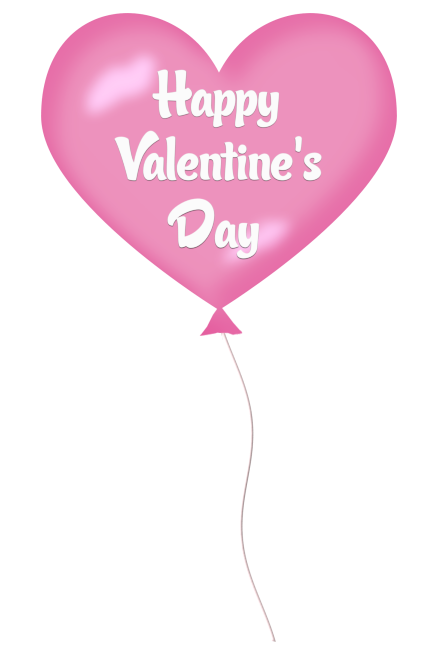 Day pink heart balloon. Balloons clipart valentines