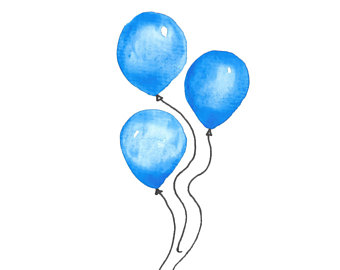 Digital glitter sparkly glittery. Balloon clipart watercolour