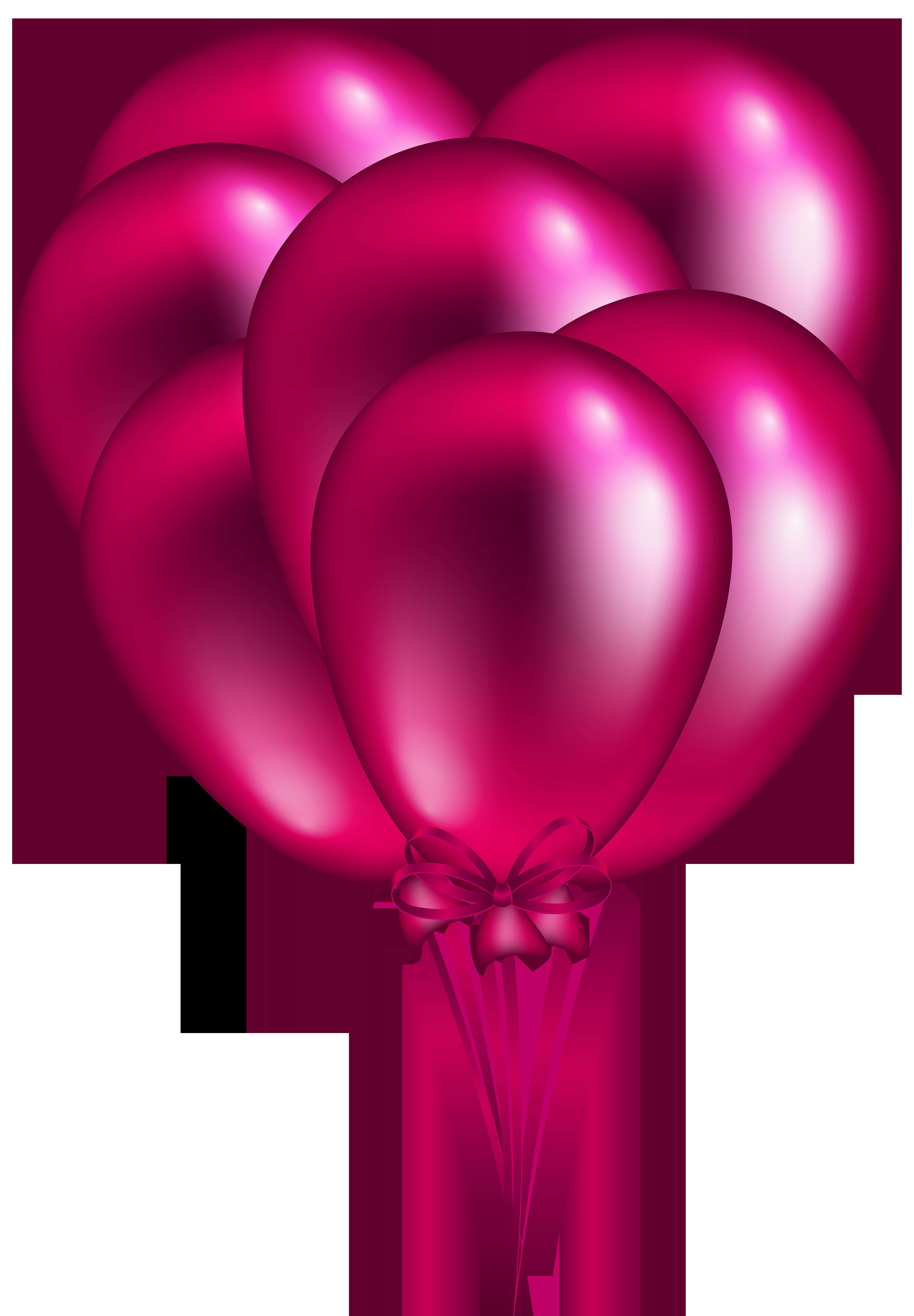 Clipart balloon pink. Bunch png clip art