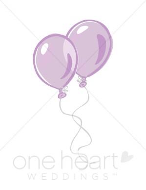 Balloon clipart wedding. Purple balloons