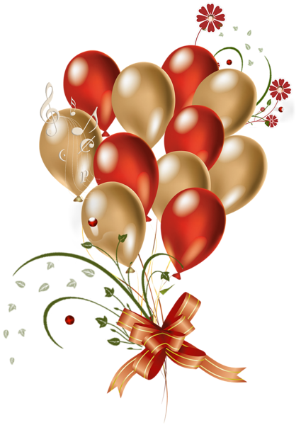 Balloon clipart wedding. Transparent red and gold