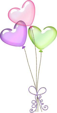 Bunch of colorful balloons. Balloon clipart wedding