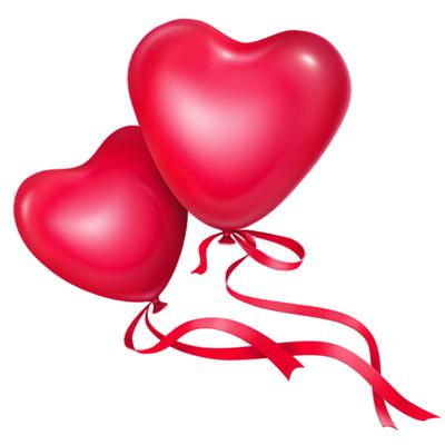 Clipart balloon wedding. Heart clip art panda