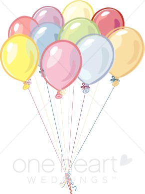 Balloons. Balloon clipart wedding