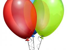 Balloons clipart animated. Free birthday balloon animations