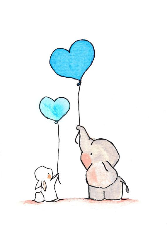best bunny images. Balloons clipart baby elephant