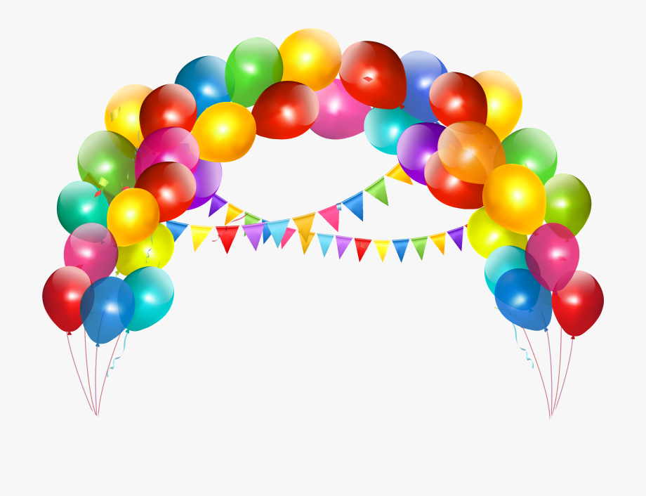Balloons clipart ballon. Transparent balloon arch with