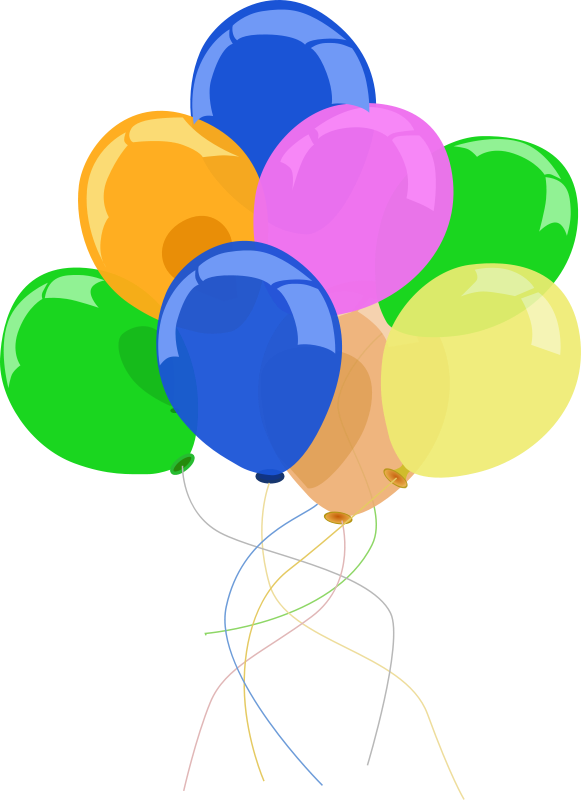 Clipart balloon banner. Balloons party