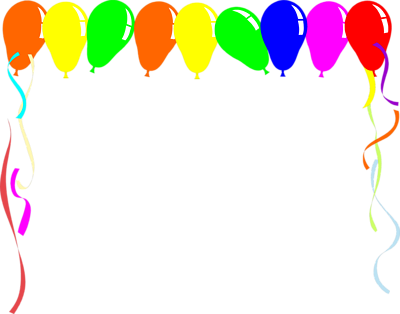 Balloon clipart frame.  collection of birthday