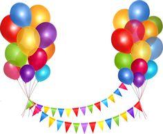 Celebration clipart banner. Ballons png tube card