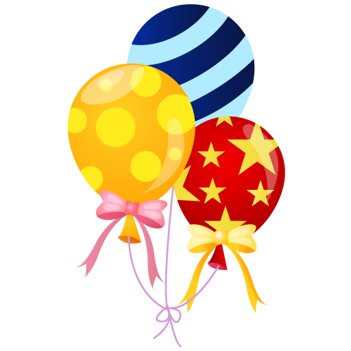 Balloons balloon icon. Carnival clipart event