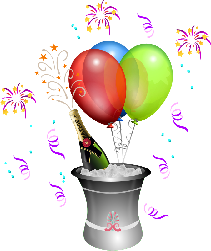 Free graphics of parties. Clipart fireworks party