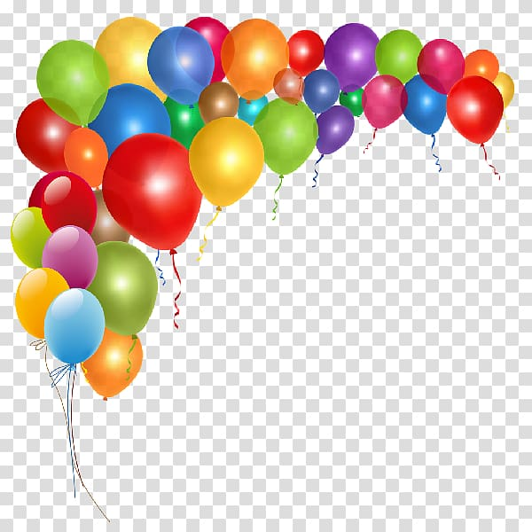 Balloons clipart celebration. Assorted color art birthday