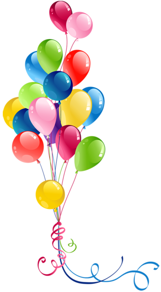 Balloons clipart celebration. Background cards birthday happy