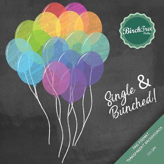 Balloon clipart chalkboard. Balloons chalk party digital