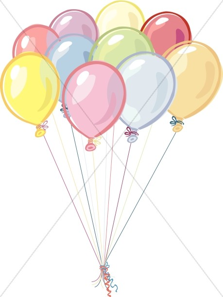 Birthday balloons cilpart church. Ballon clipart classy