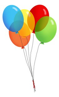 Balloons clipart clear background. Party clip art free