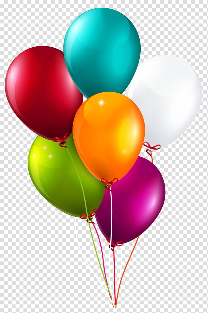 Clipart balloons clear background. Balloon colorful bunch large