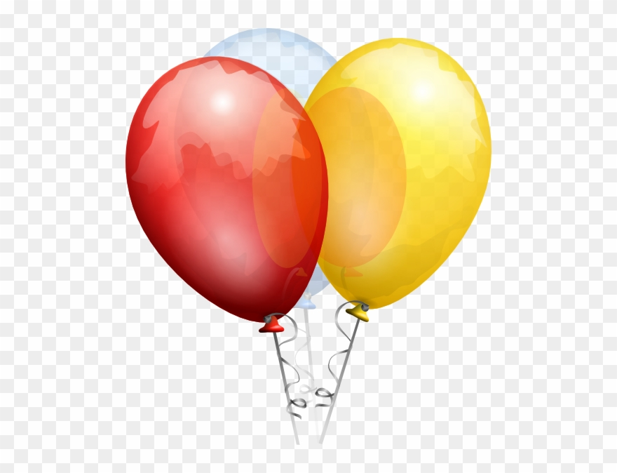 Birthday transparent clip art. Balloons clipart clear background