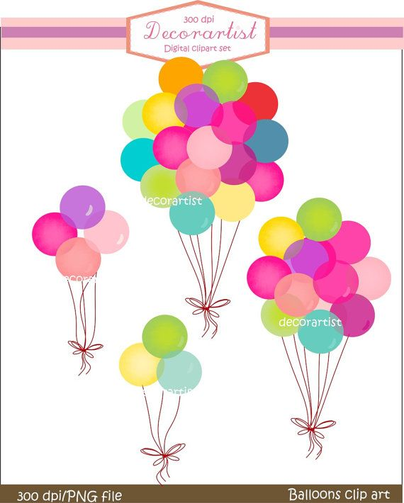 Digital for all use. Balloons clipart conversation