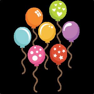Assorted svg cut files. Balloons clipart design