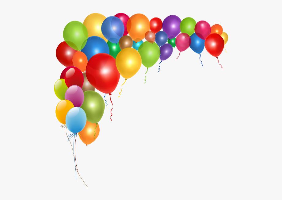 Border clip art birthday. Balloons clipart elegant