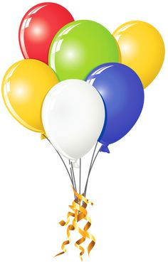 Balloons clipart fancy. Pink and yellow bunch