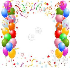 Happy birthday with balloons. Balloon clipart word