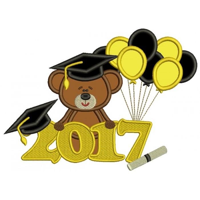 school with balloons. Bear clipart graduation