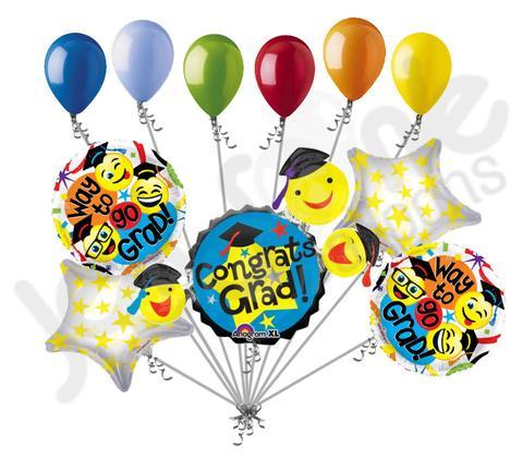 Congrats grad smiley faces. Balloons clipart graduation