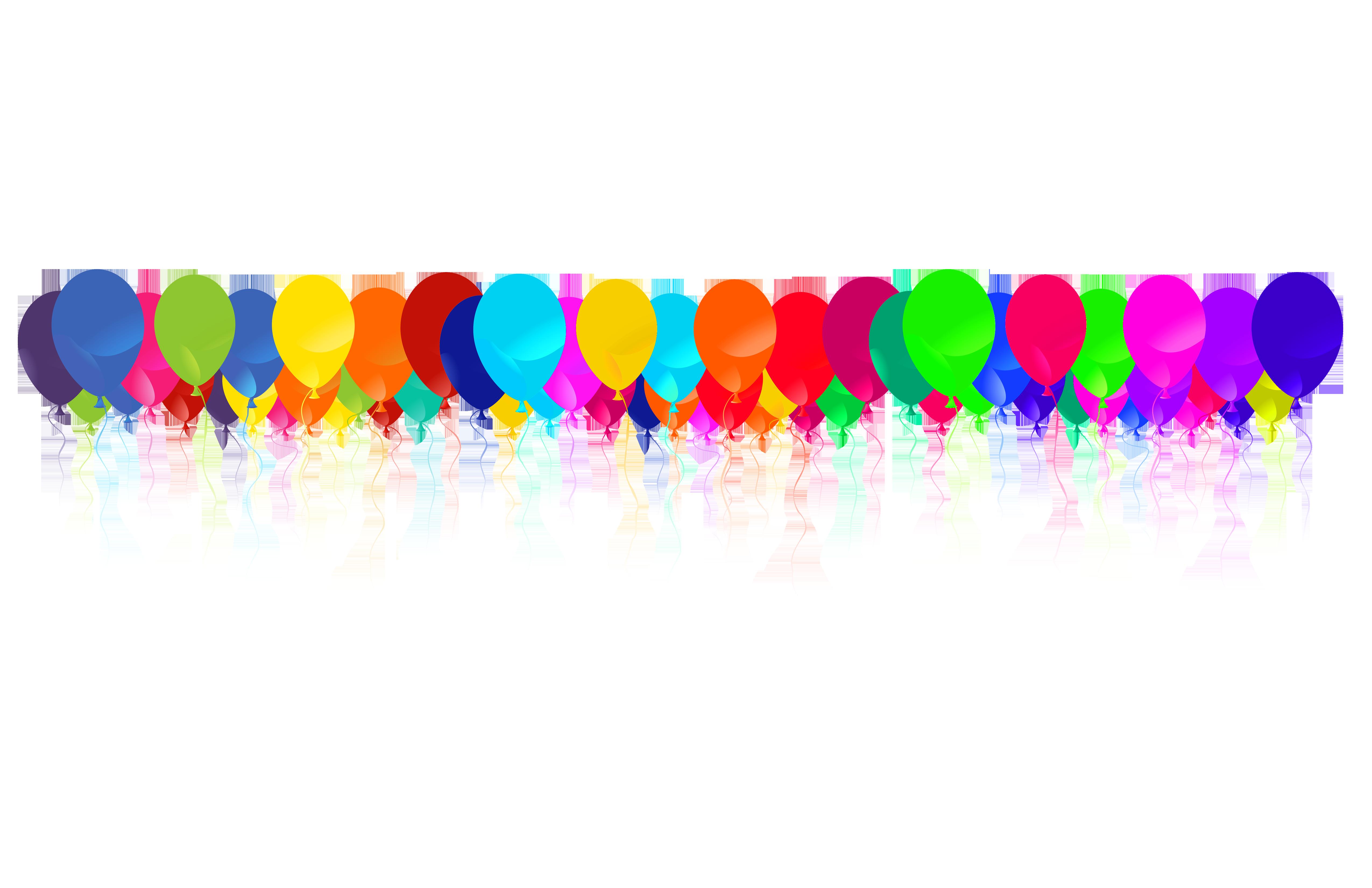 Clipart balloon row.  collection of balloons