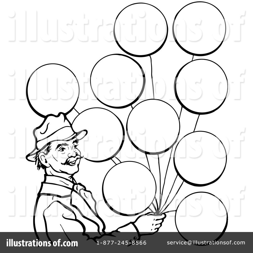 Balloons clipart line. Illustration by picsburg royaltyfree